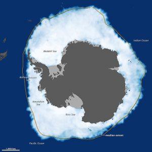 Il boom d'espansione dei ghiacci antartici durante il massimo registrato nell'inverno australe del 2012