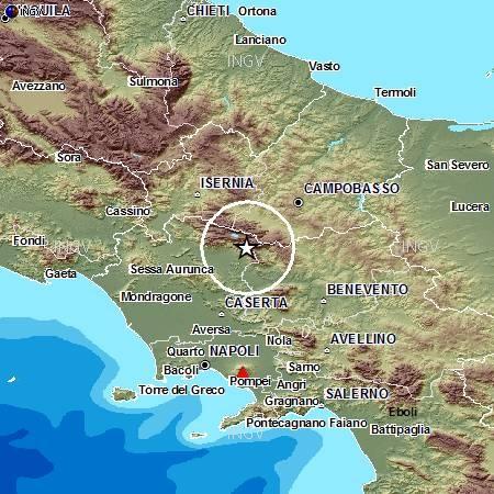 Terremoti lieve scossa in provincia di caserta e for Mobilifici caserta e provincia