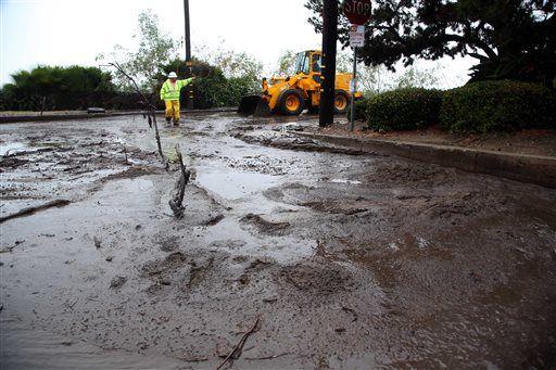 Maltempo usa forti piogge nel sud della california frane for Cabine romantiche nel sud della california