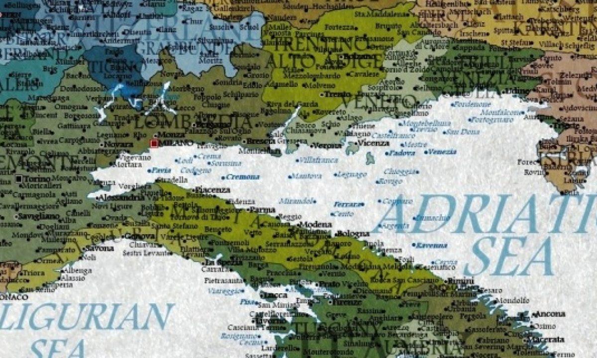 Italia Climatica Cartina.Italia Sott Acqua Fra 100 Anni Ecco La Mappa Disegnata Da Un Sito Britannico