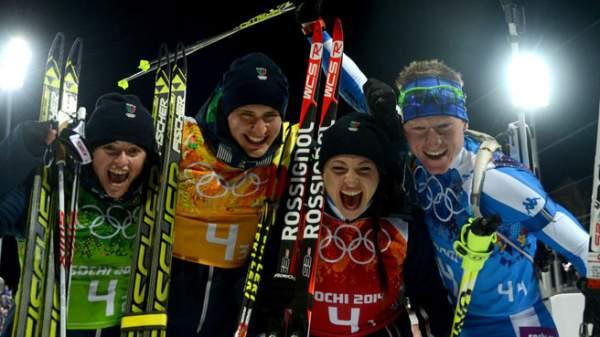 Biathlon bronzo azzurro