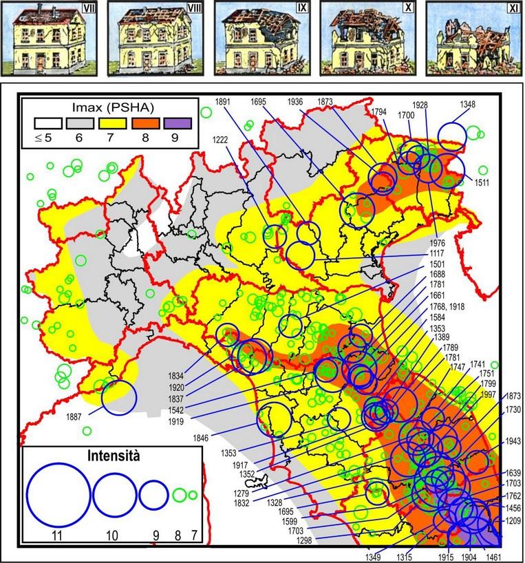 Terremoti in italia la pericolosit sismica troppo for Rischio sismico in italia