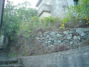 Centro storico dell'abitato di Cavallerizzo privo di qualsiasi evidenza di scivolamento in atto