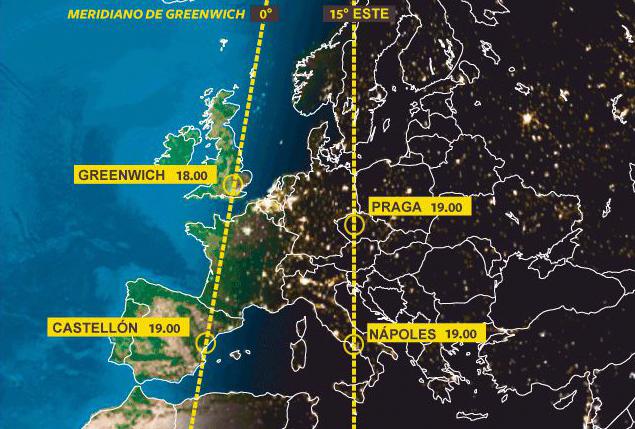 Cartina Fusi Orari Mondo.Fusi Orari La Spagna Si Tiene Stretta La Sua Anomalia Temporale Escluso Per Adesso Un Ritorno All Ora Di Greenwich