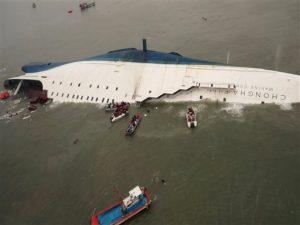 South Korea Ship Staying Below Deck