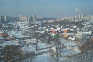 flying over Kiev