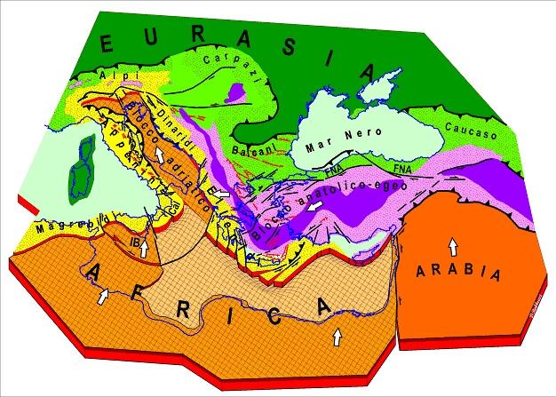 Risultati immagini per placca mediterranea