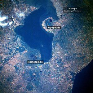 Lake Managua Nicaragua TW edit volcanoes CP