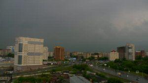 Temporale pomeridiano alle porte di Novosibirsk