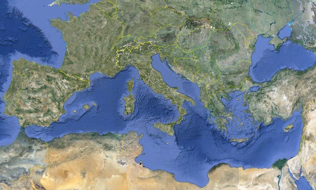 Cartina Fisica Mediterraneo Orientale.Clima Il Mediterraneo Orientale Piu Resistente Ai Cambiamenti Meteoweb