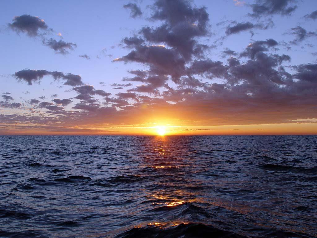 oceano tramonto mare
