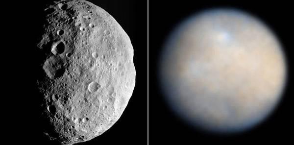 Sabato sera il momento migliore per osservare la congiunzione tra l'asteroide Vesta e il pianeta nano Cerere