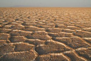 L'arido paesaggio del deserto iraniano
