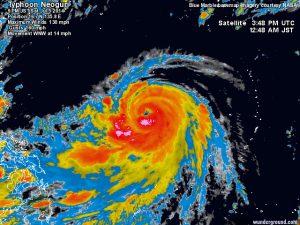 """Il super-tifone """"Neoguri"""" in rapida formazione sul Pacifico occidentale"""