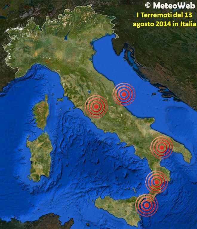 Terremoto, tante scosse oggi al centro/sud: i dati INGV e ...