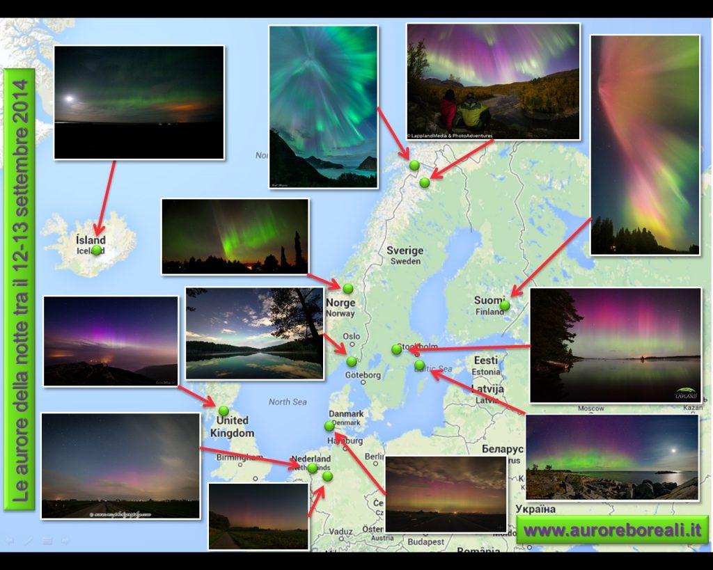 Le aurore boreali del 12-13 settembre 2014