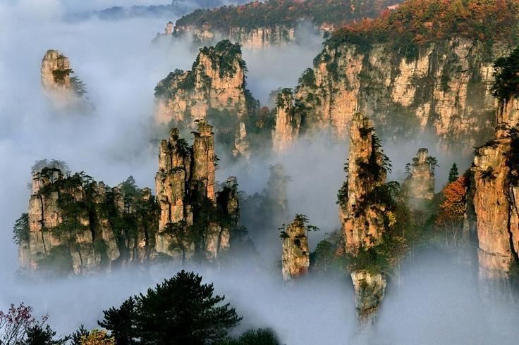 Alla Scoperta Delle Montagne Cinesi Di Tianzi Ambientazione Di