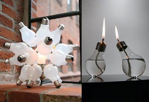 riciclo creativo: ecco come riutilizzare le lampadine rotte ... - Lampade Riciclo Creativo