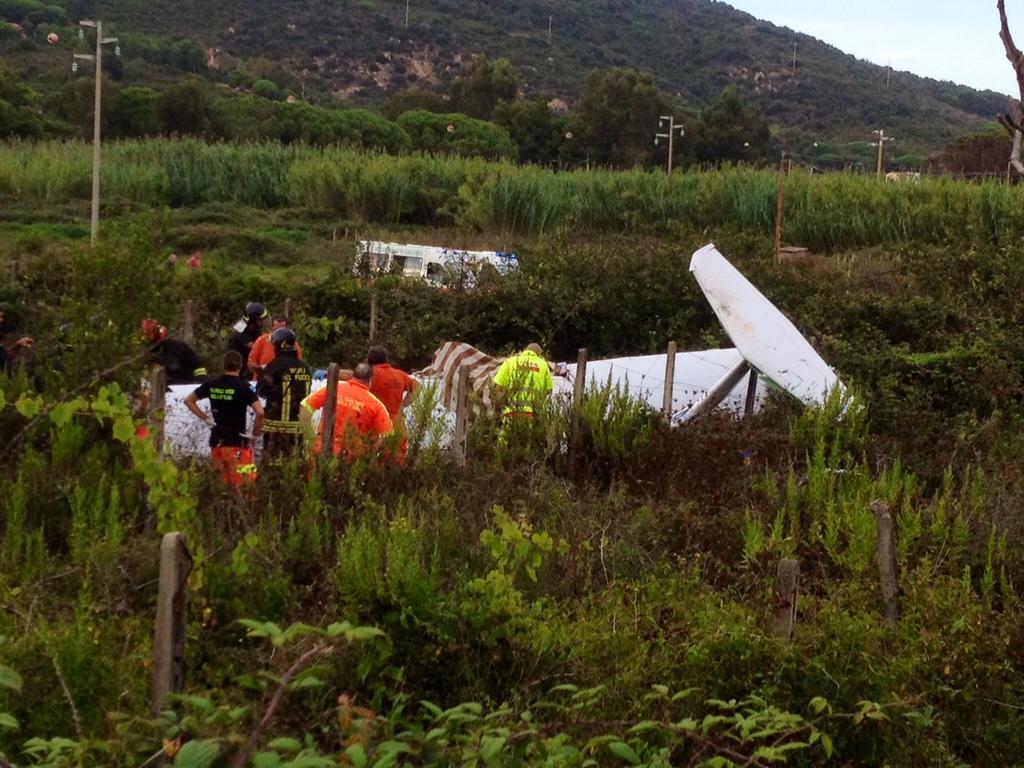 Aeroporto Elba : Ultraleggero precipita all isola d elba due morti meteo web