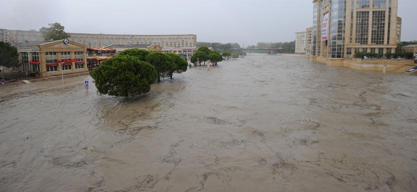 Alluvione nel sud della francia tutto paralizzato intorno montpellier meteo web - Meteo agricole montpellier ...