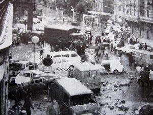 Una storica immagine dell'alluvione del Novembre 1970 che travolse Genova, mietendo morti e danni incalcolabili