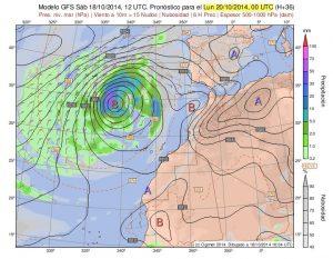 Ecco la profonda depressione responsabile dell'ondata di maltempo che ha colpito le isole Canarie