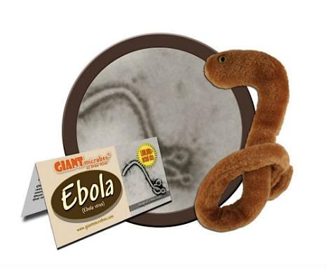 Ebola: negli usa boom di vendite per il peluche del microbo