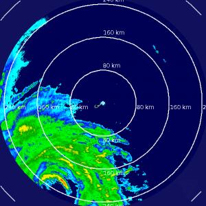Il radar riprende il passaggio ravvicinato dell'uragano alle Bermuda