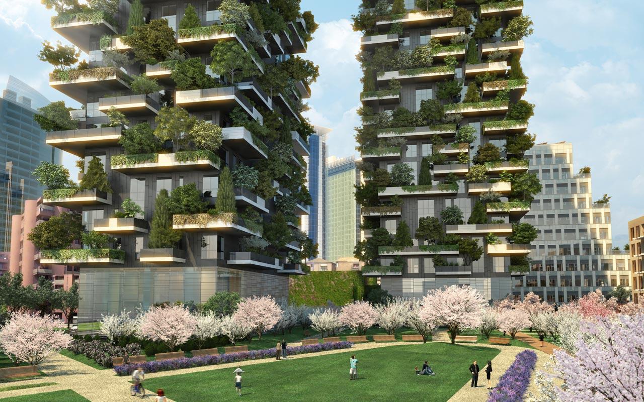 Bosco verticale di boerio studio un eccezionale esempio - Residenze di porta nuova ...
