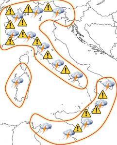 cartina italia allerta