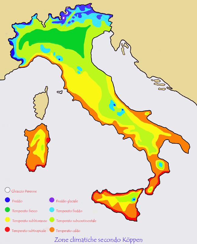 Cartina Italia Zone Climatiche.Le Temperature Di Oggi In Italia Massima Di 10 C A Perugia 22 C A Palermo