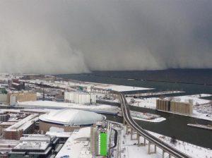 """Il fenomeno del """"lake effect"""" visto dalla città di Buffalo"""
