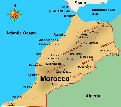 Agadir Marocco Cartina.Allerta Meteo Spagna E Marocco Piogge Alluvionali In Arrivo Agadir E Barcellona Le Citta Piu Colpite