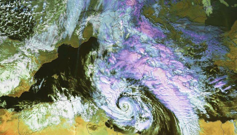 Il ciclone tropicale del  7 novembre 2014  nel Canale di Sicilia