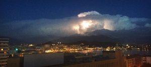 Una foto spettacolare dei temporali in azione sull'entroterra corso orientale