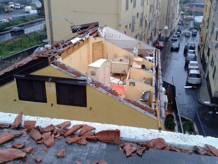 I danni del tornado del 5 novembre 2014 ad Acireale (Catania)