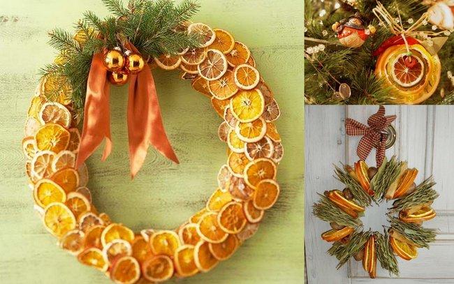 Natale addobbi e decorazioni fai da te per una famiglia - Decorazioni con frutta essiccata ...
