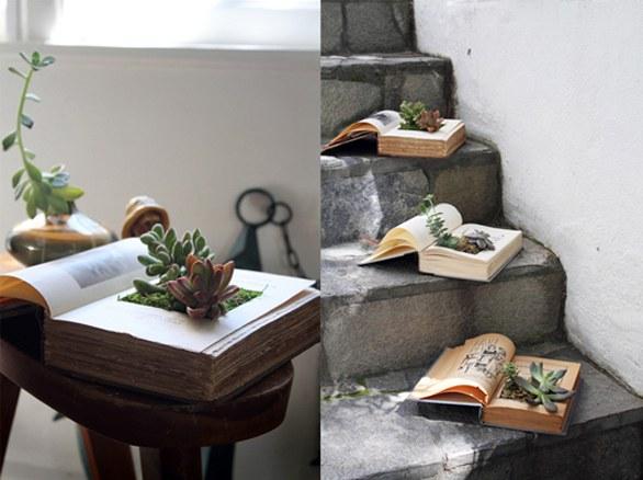Riciclo creativo ecco come i vecchi libri si trasformano for Riciclo creativo arredamento