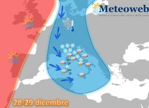 allerta meteo neve maltempo 28 29 dicembre 2014