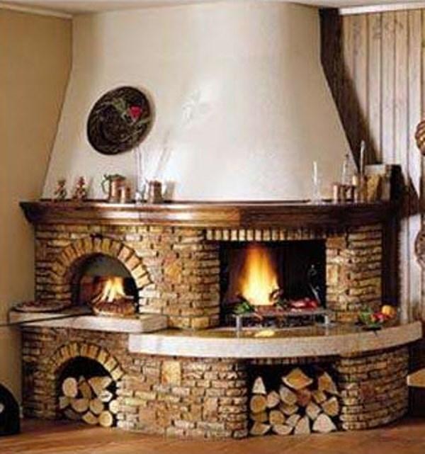 salotto rustico con camino idee per il design della casa