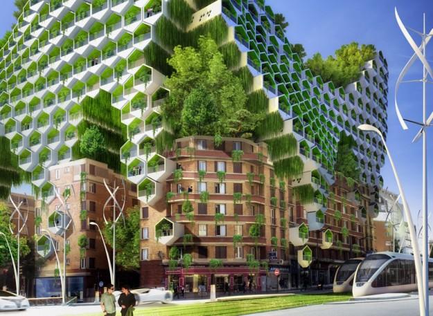 Una parigi verde nel 2050 con il futuristico progetto dell for Architettura del verde