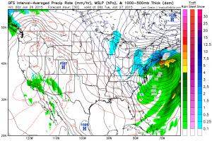 """Il """"Nor'easter"""" atteso domani a ridosso delle coste del New England"""