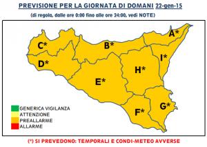 sicilia allerta meteo map