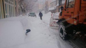 La neve caduta nelle aree montuose greche