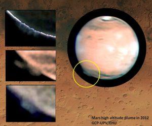 Scoperte misteriose nuvole su Marte