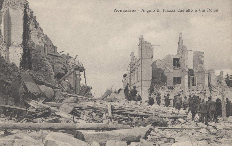 Catastrofe Di AvezzanoRiviviamo Terremoto La 100 Anni Fa mN8n0w