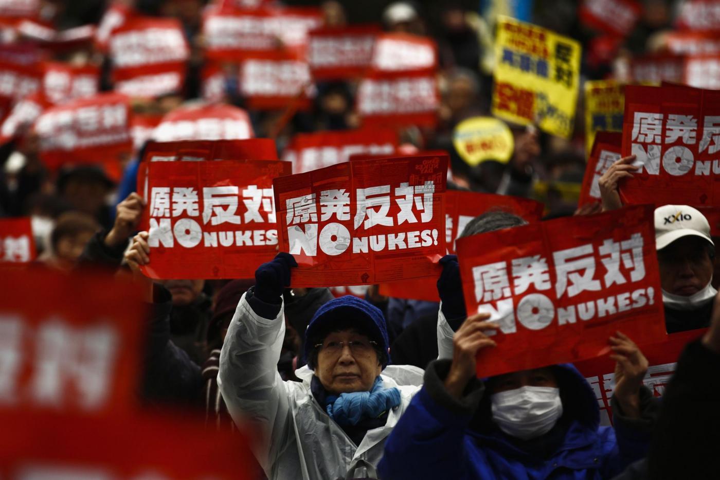 Tokyo  la manifestazione contro l energia nucleare nel centro della ... 9b2dce72289a
