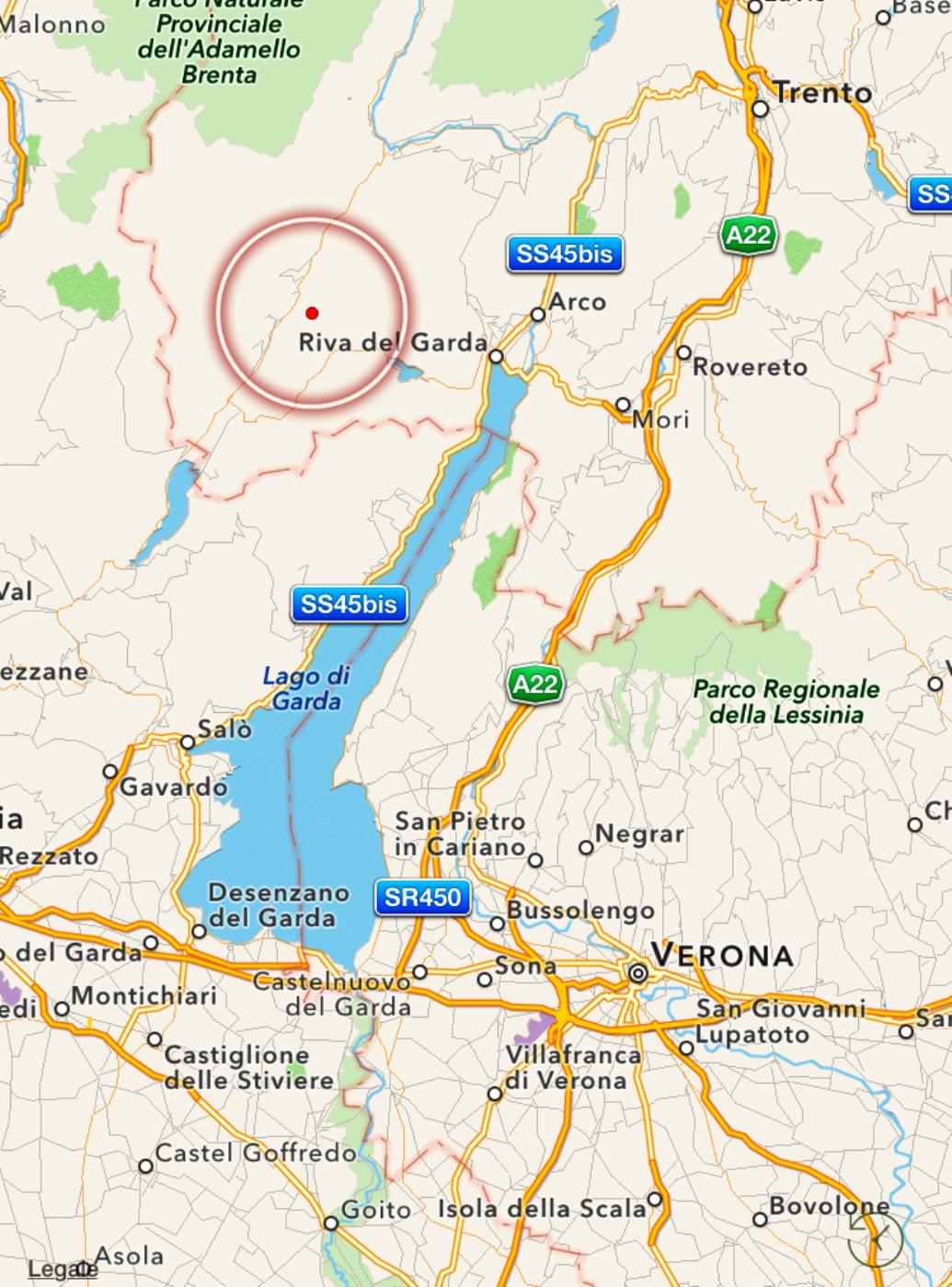 Cartina Fisica Lago Di Garda.Scossa Di Terremoto Avvertita Dalla Popolazione Tra Il Lago Di Garda E Le Alpi Camoniche Mappa