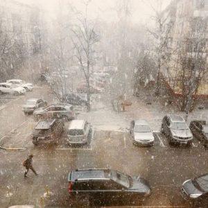 I fiocchi osservati stamattina su Mosca