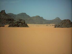 Scorcio del Sahara nel sud della Libia